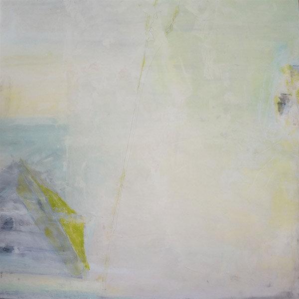 """Masimudo  : oil pigment stick, cold wax : 40""""h x 40""""w : $2500 : by Lynda Cole"""
