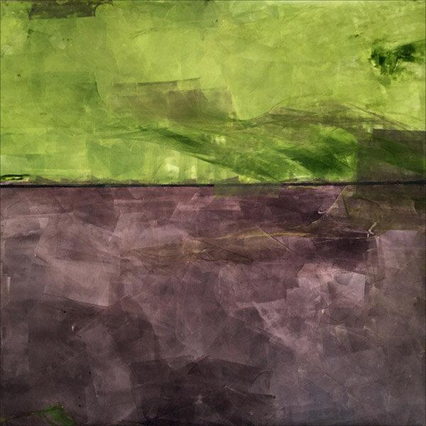 "Tree Speech  : oil pigment stick, cold wax : 40""h x 40""w : $2500 : by Lynda Cole"