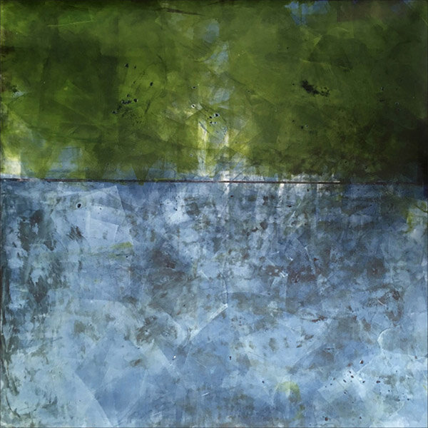 """Uneasy Weather  : oil pigment stick, cold wax : 40""""h x 40""""w : $2500 : by Lynda Cole"""