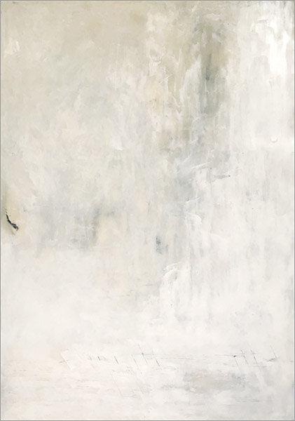 "White Light  : 42""h x 30""w : oil pigment stick, cold wax : $1900  by Lynda Cole"