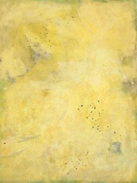 "Yellow - Deep :  encaustic on wood panel : 4'h x 3'w x 2""d : $3120 by Lynda Cole"
