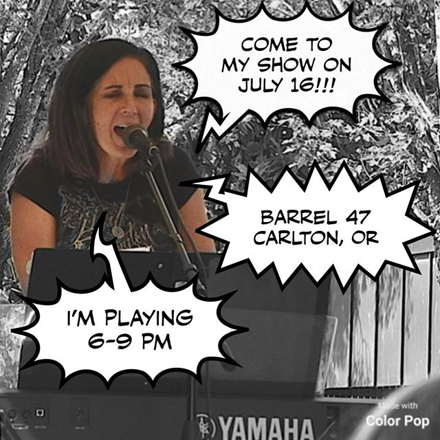 I'm screaming at you to come to my show.  Yes, it's come to that.  Just kidding.  But it will be a great time.  Come support a local musician!  And great food @barrel_47!!! #marcellelavae #singersongwriterartist #barrel47 #localtalent #indieartist #threehoursofmusic #keyboardguitar #originalsongs #andmanycovers