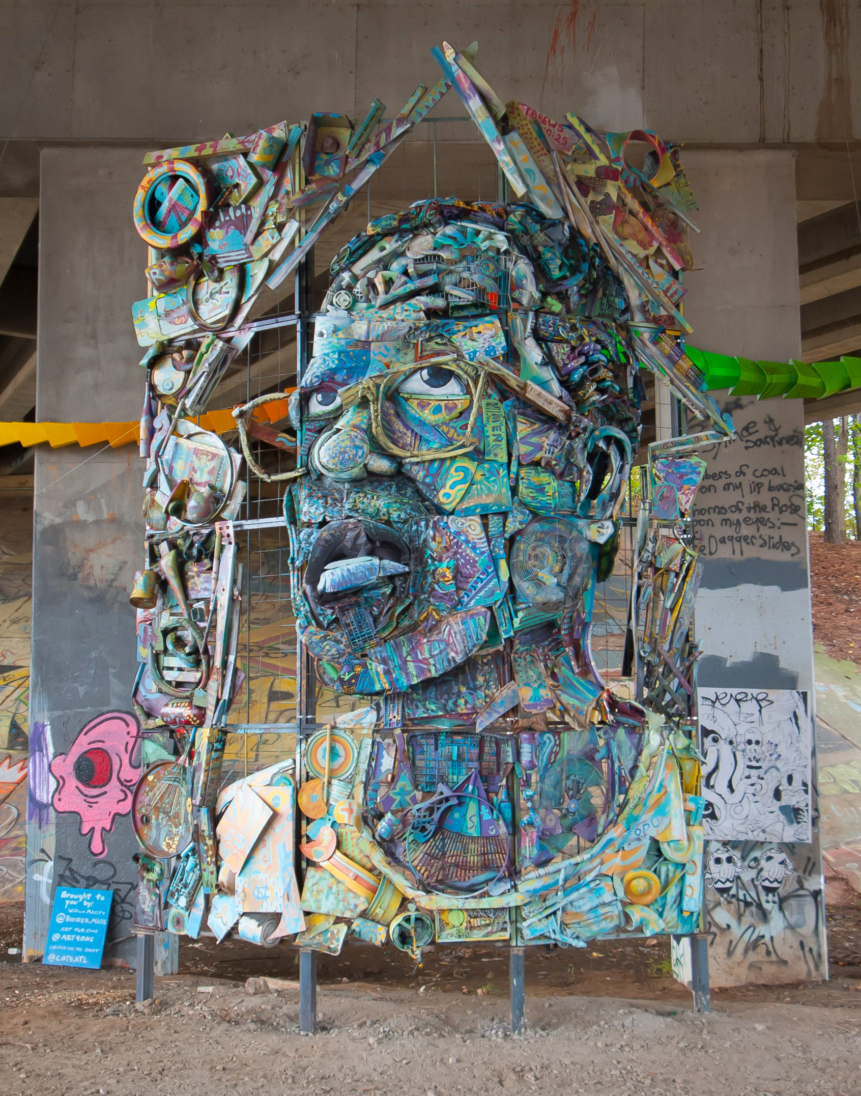 William Massey, The Art of Reconciliation, 22ft x 14ft x 3.5ft, Metal, found objects, paint. 2015.jpg