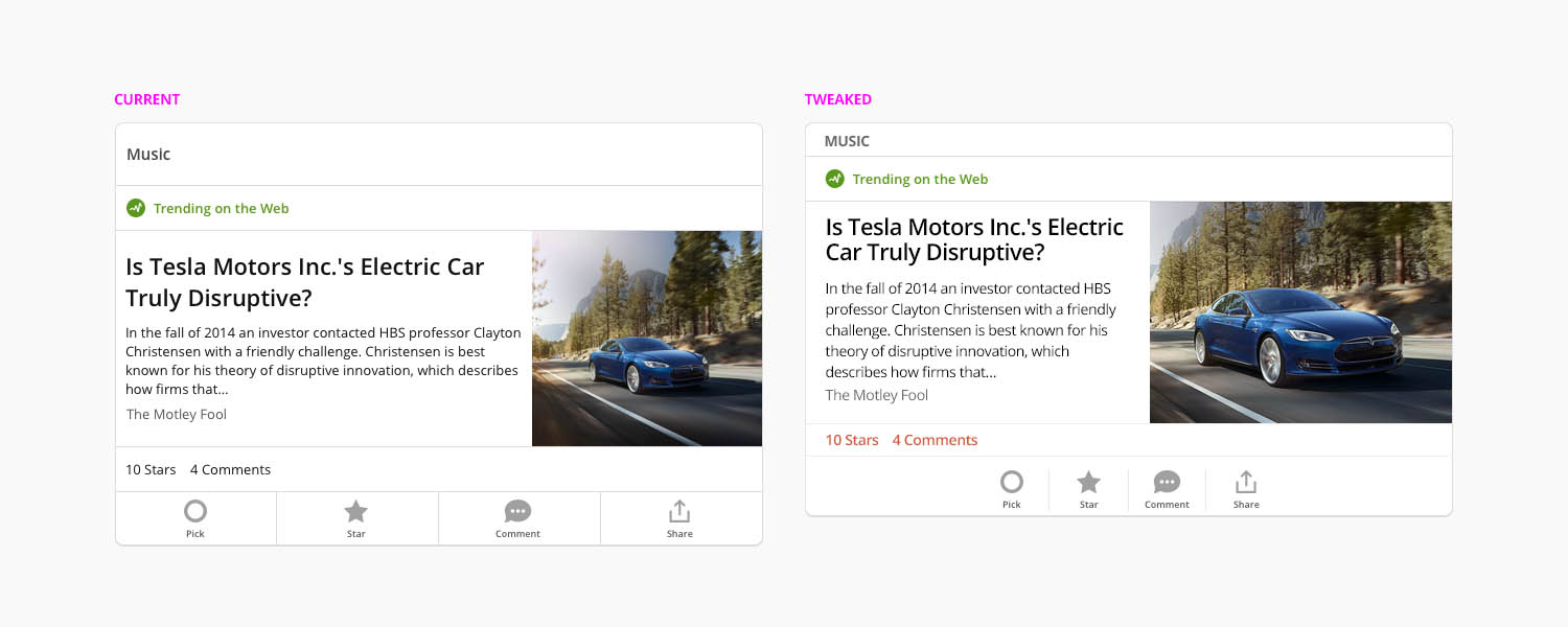 NEW ARTICLE TEASER DESIGNS for iOS  I gave my designers a generous amount of autonomy.However, that did not mean I didn't take every opportunity to remind them of the fundamentals as well as introduce them to new tools, processes and new ways of thinking.