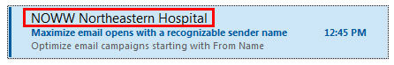 Hospital Marketing From Name Example