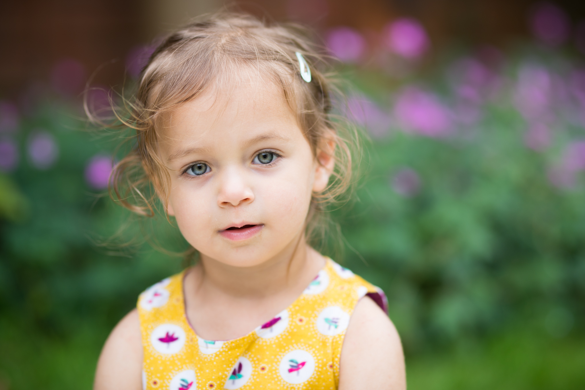 Yellow dress | Children's Photography