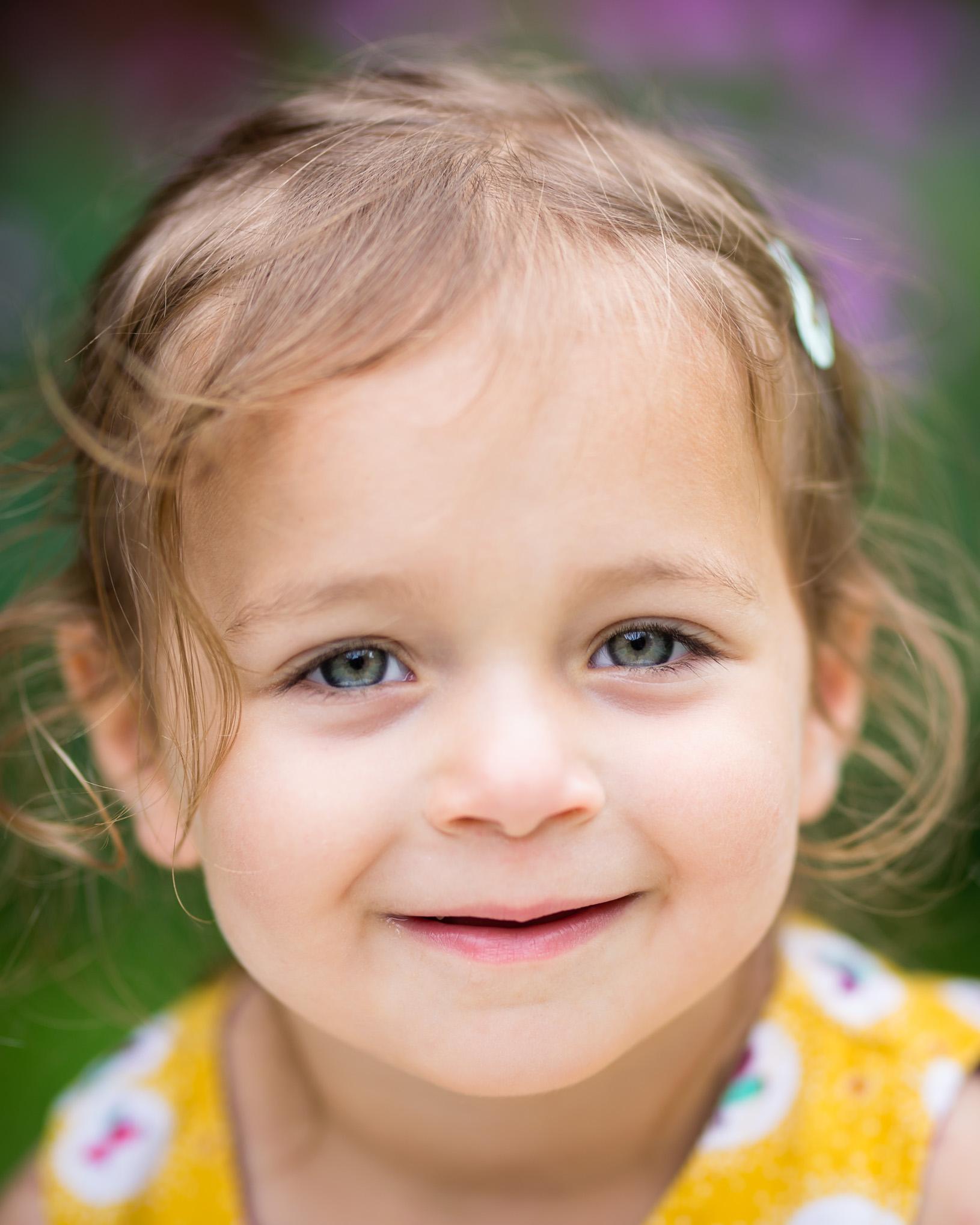 Toddler close up headshot | Children's Photography