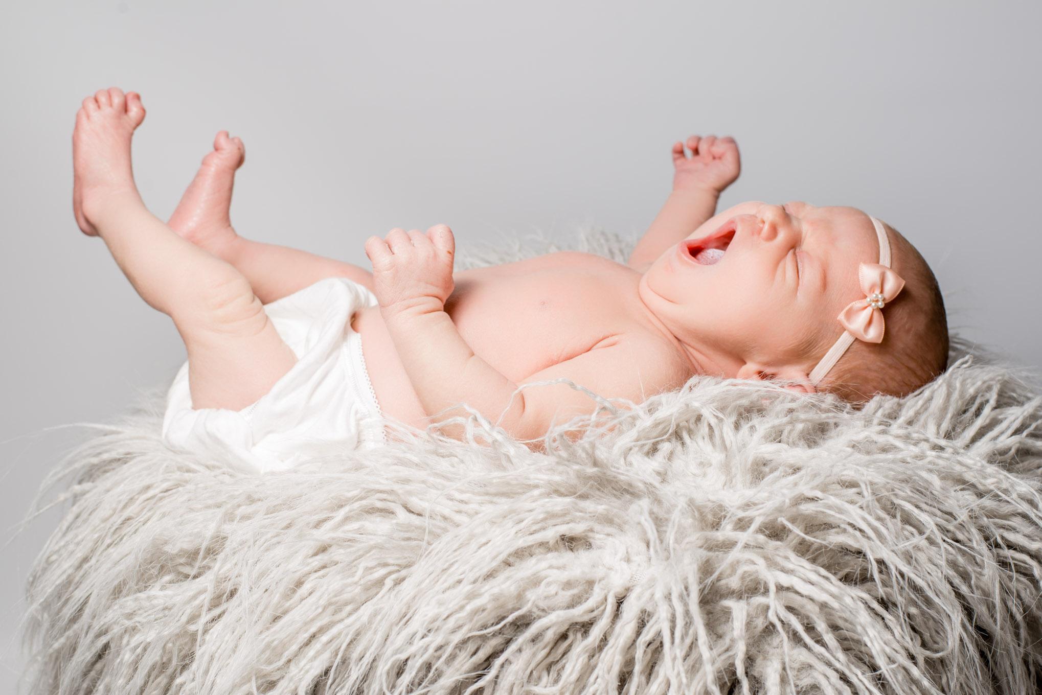 Newborn yawning | Children's Photography