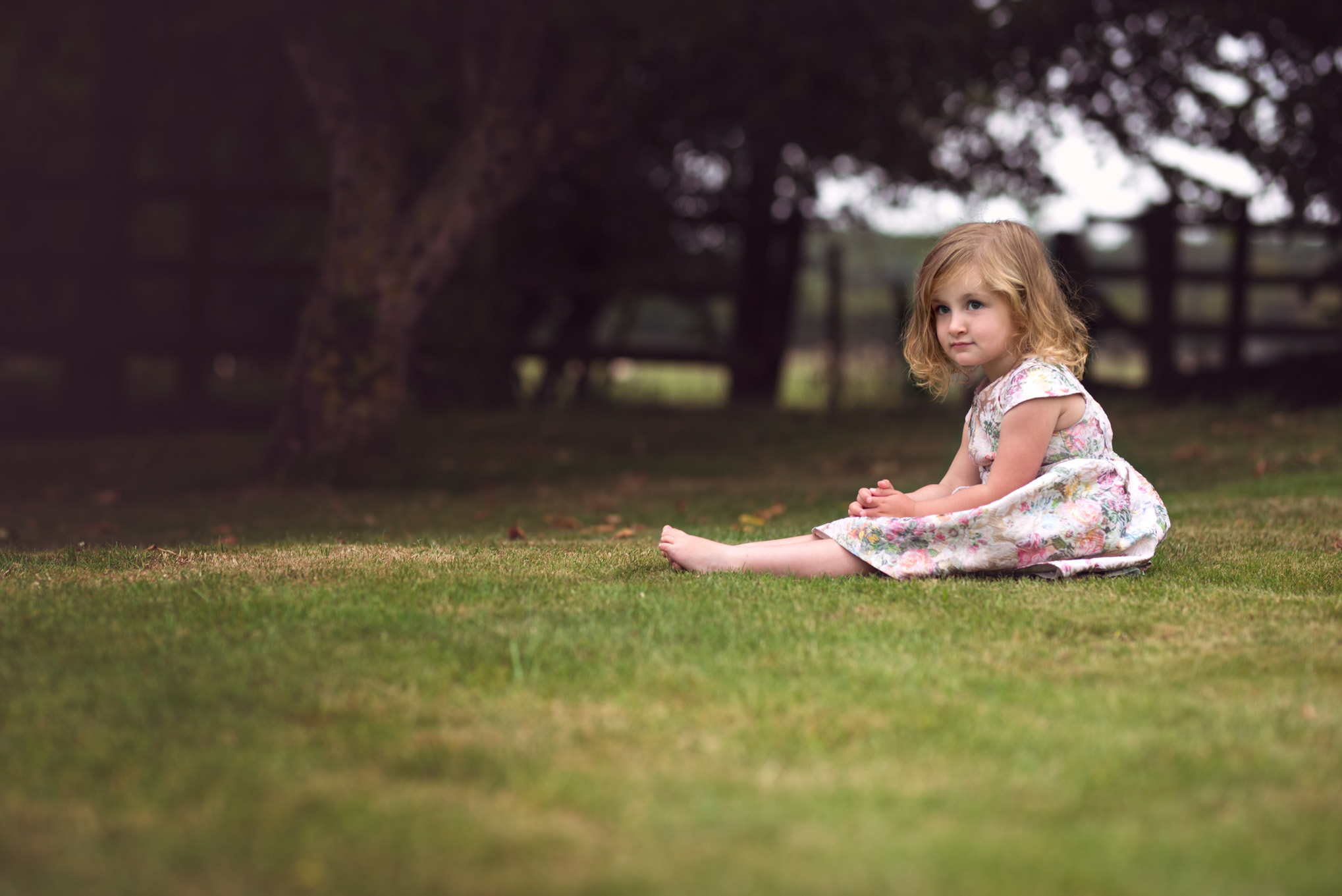 Toddler sitting in the garden | Children's Photography