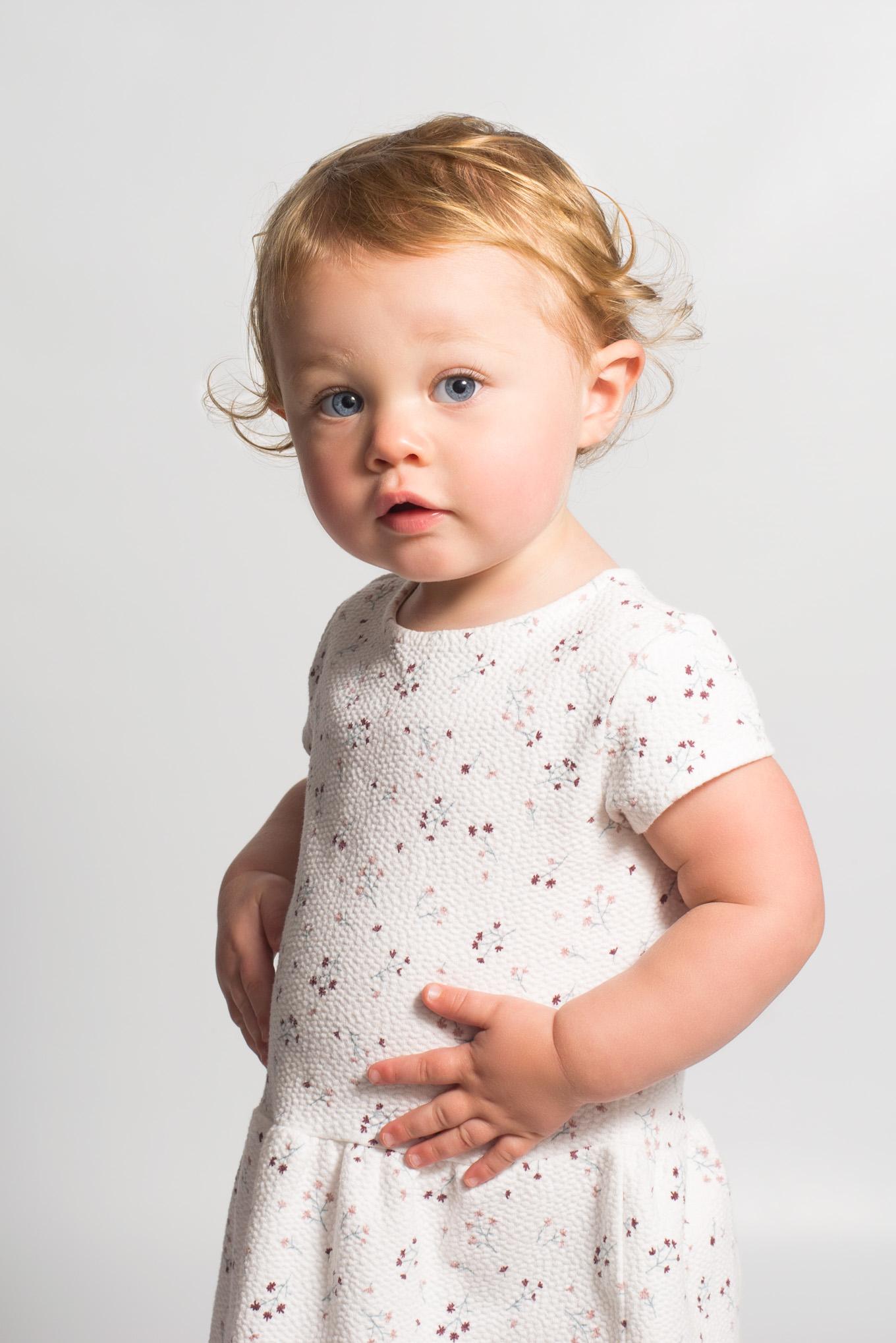 Adorable studio portrait | Children's Photography