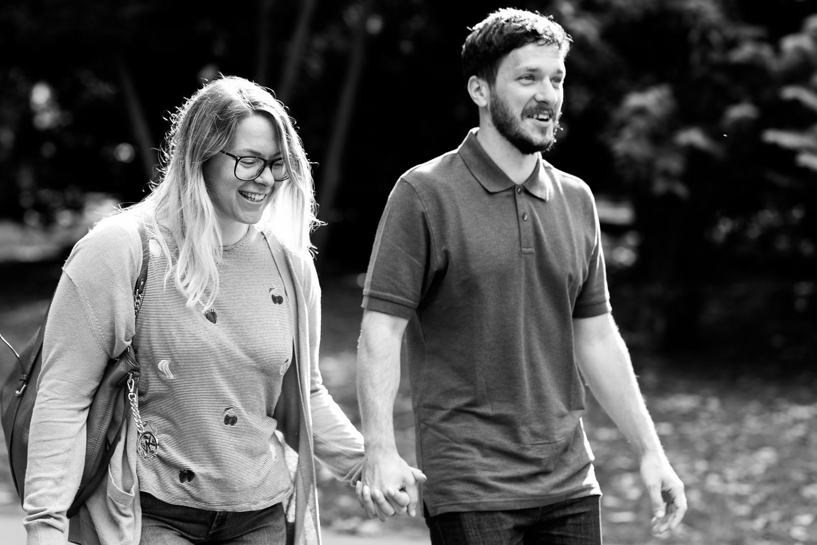 Couple taking a walk - Cotswolds Wedding Photographer