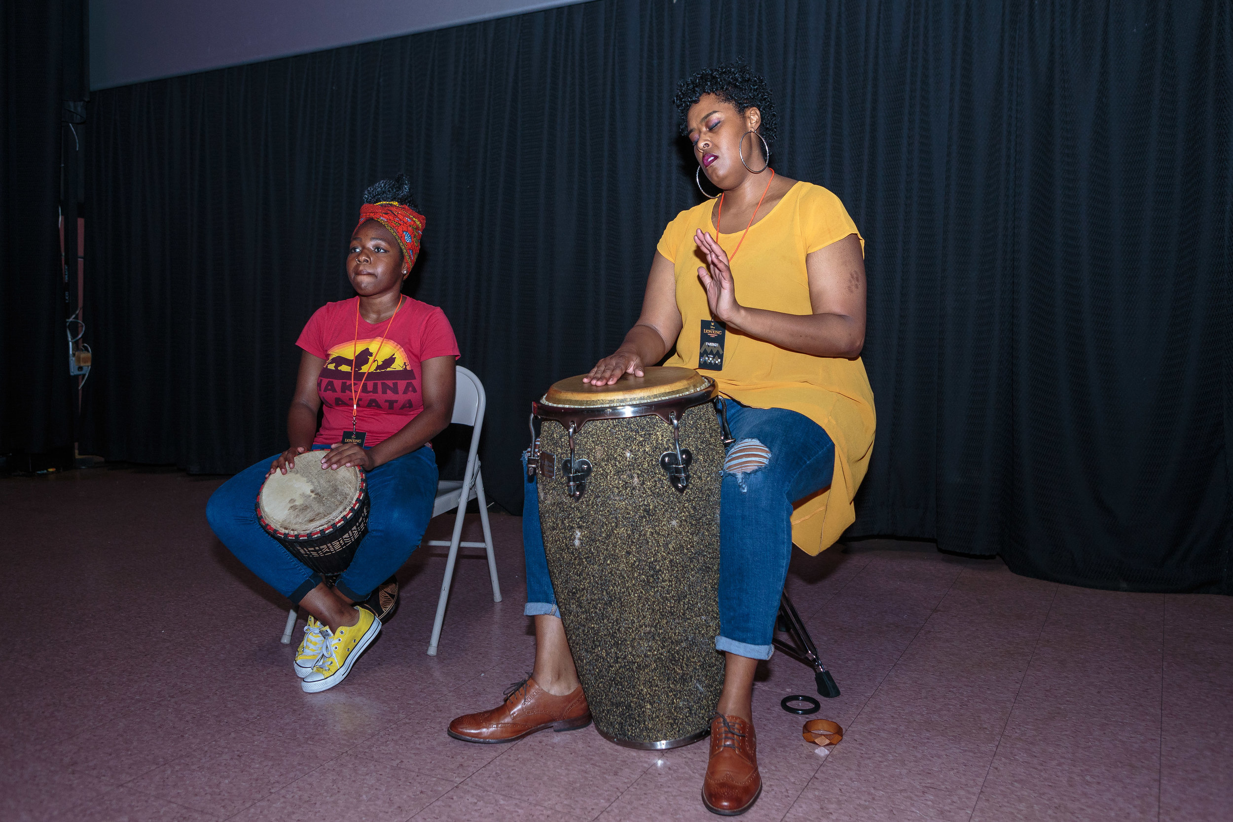 - India performed alongside Drum Like a Lady founder, Latreice Branson, at The Lion King Philly private movie screening hosted by Happily Better After & The Better Give Back Foundation on July 18, 2019.