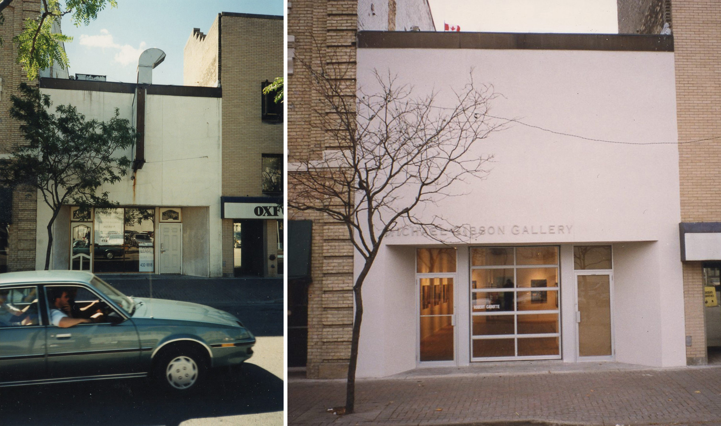 Before and after construction of Michael Gibson Gallery on Carling St. (Images provided By Michael Gibson)