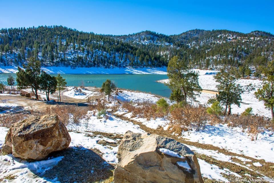 Winter scenic, Grindstone Lake, Ruidoso, NM