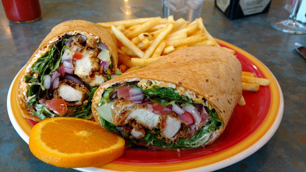 Fried Chicken Wrap at Oso Grill, a regional favorite in Capitan, NM.