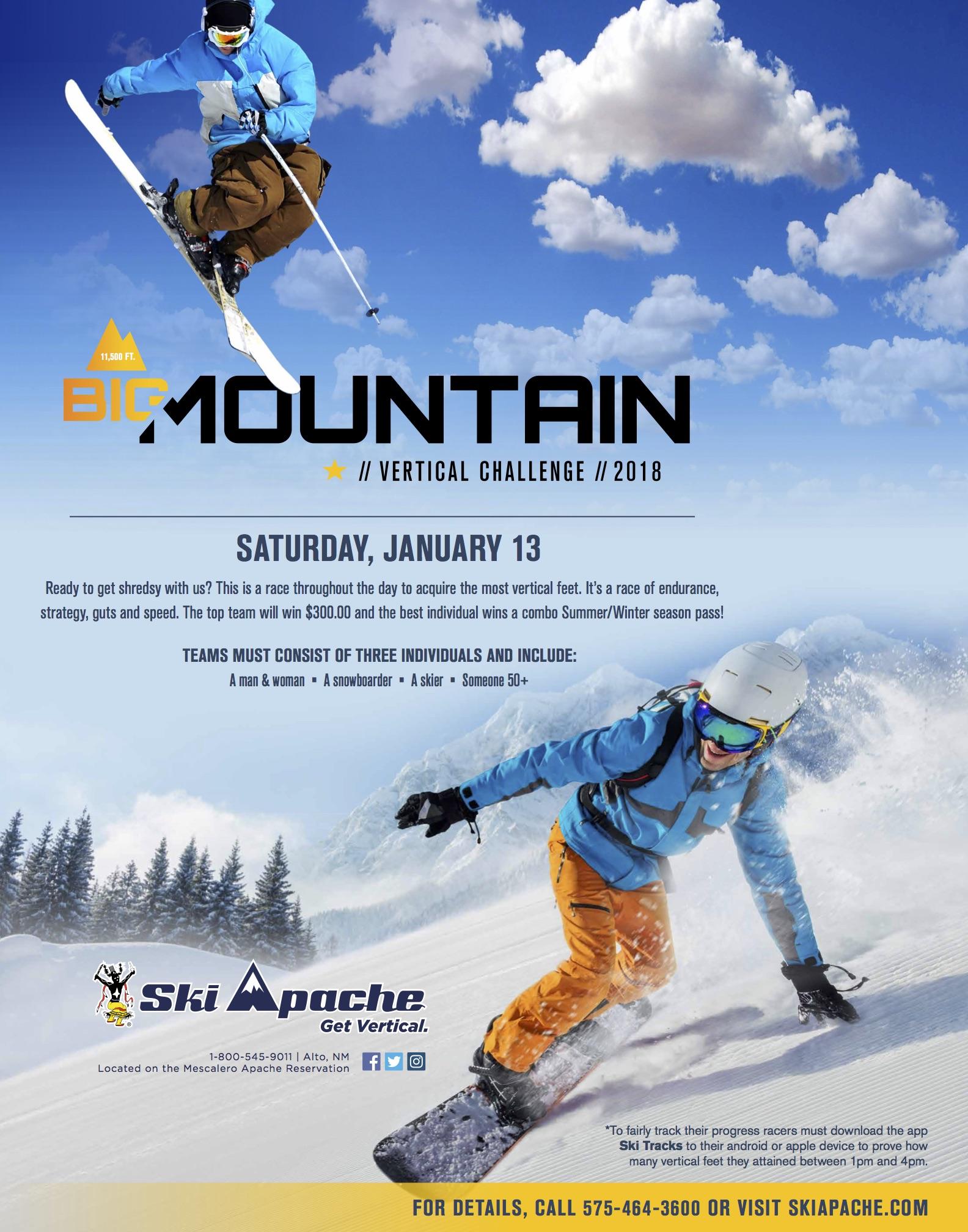 Big Vertical Challenge 2018 Ski Apache