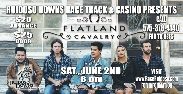 Flatland Cavalry at Ruidoso Downs Race Track on June 2, 2018, at 8 PM. Photo by Natalie Rhea.
