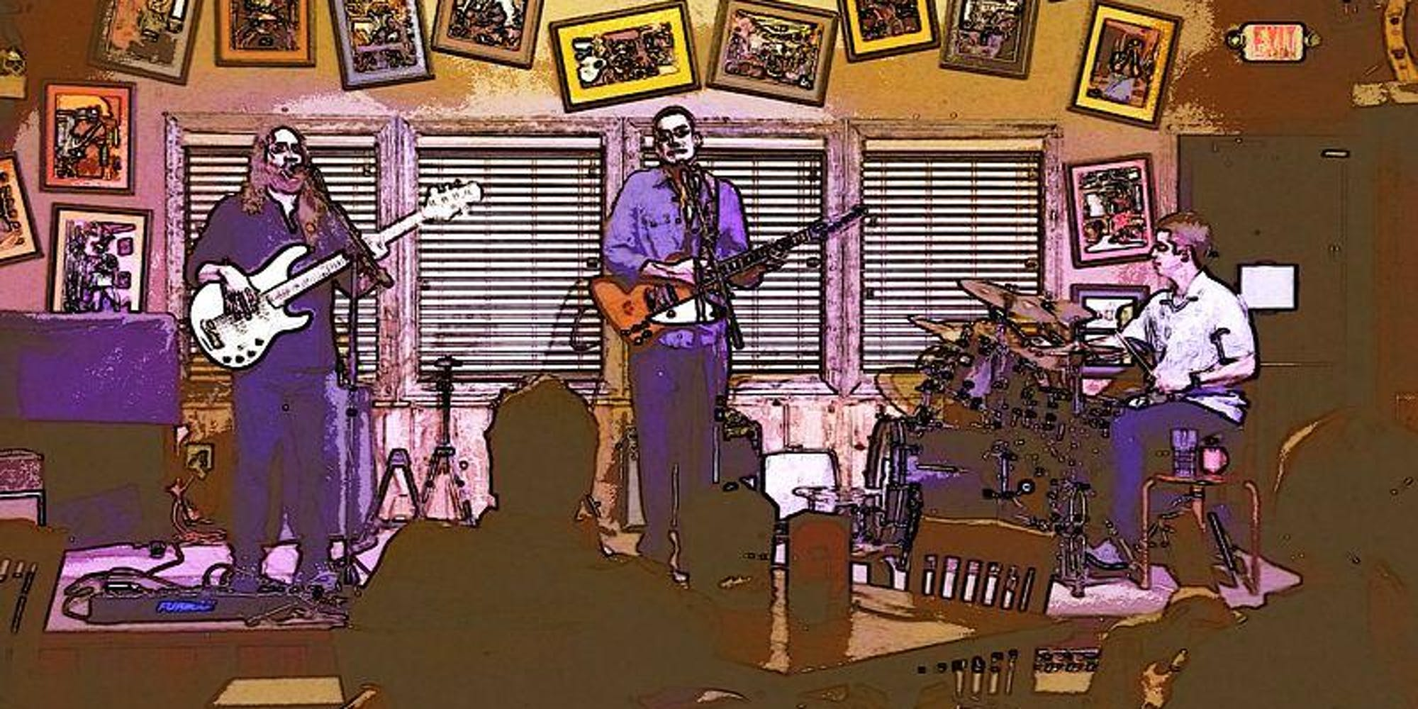 Sam Barlow And His True Blue Band live at Sacred Grounds.