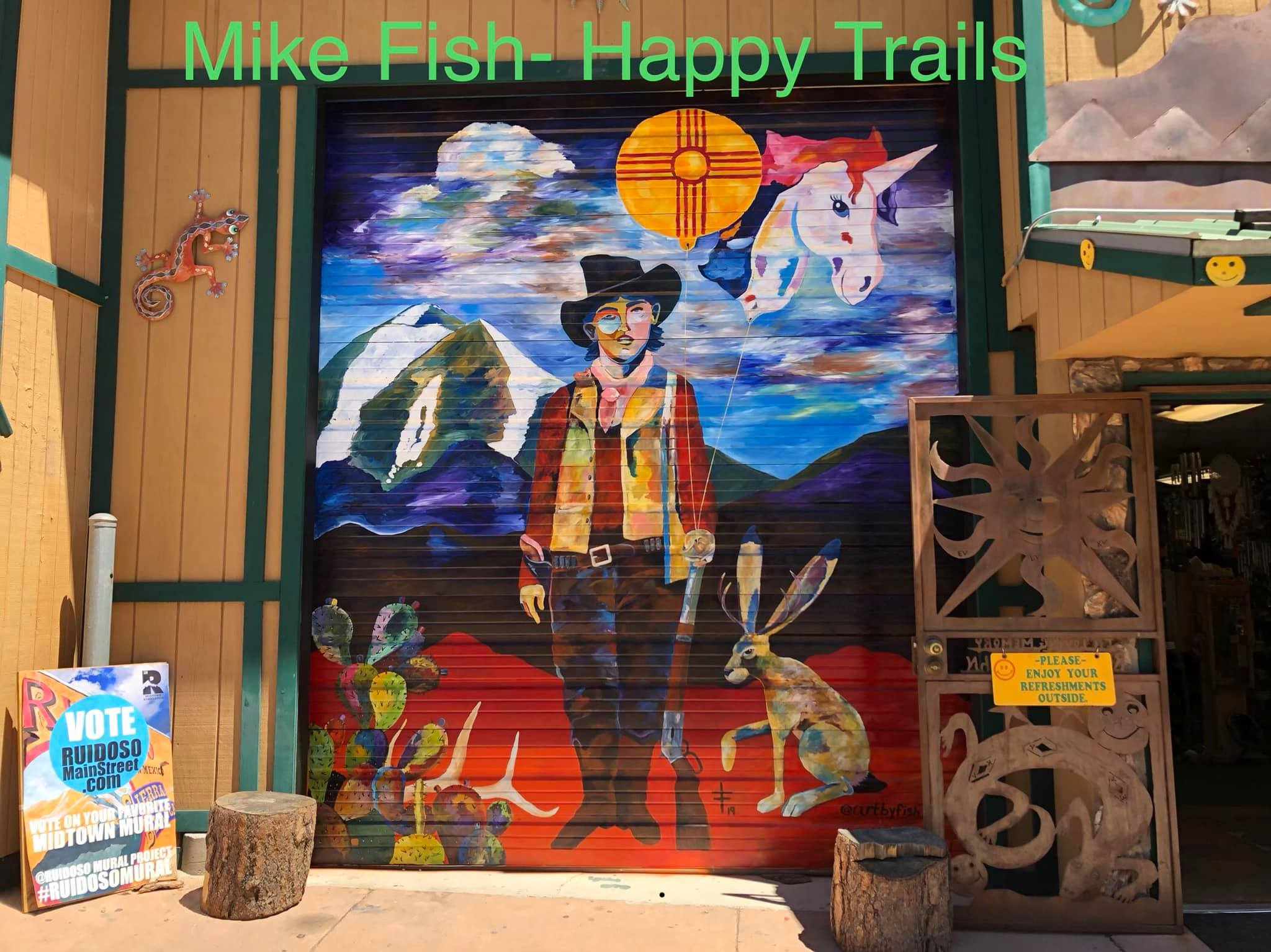 Photo: Mural at Happy Trails Gift Shop