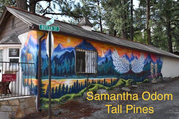 Photo: Mural at Tall Pines Beer & Wine Garden