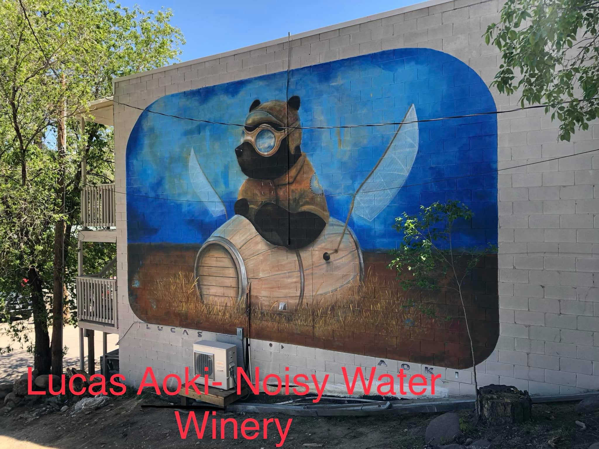 Photo: Mural at Noisy Water Winery