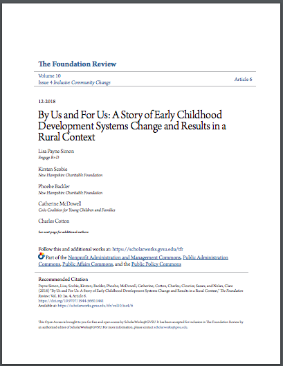 Foundation review: EarLy Childhood development systems change