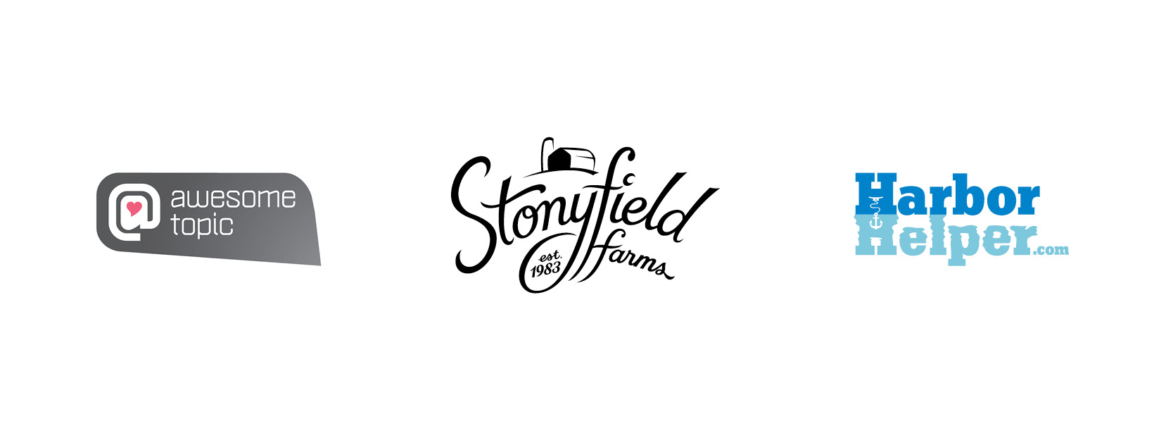 Awesome Topic development, Stonyfield Farms concept, HarborHelper.com concept