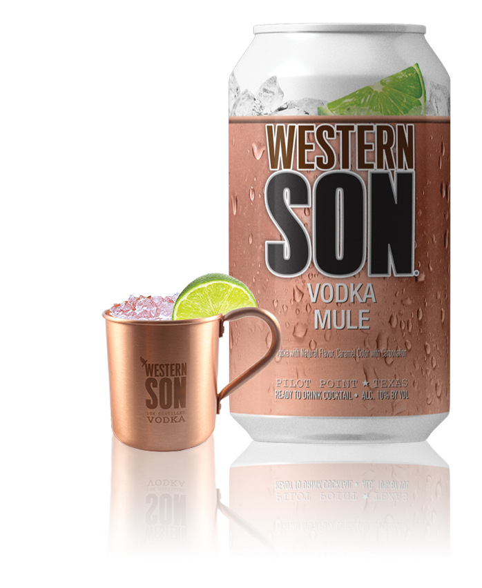Vodka Mule - We've combined our award-winning, 10X distilled Western Son Vodka with natural ginger flavor to create the perfect Western Son Vodka Mule. Enjoy straight out of the can or over ice!