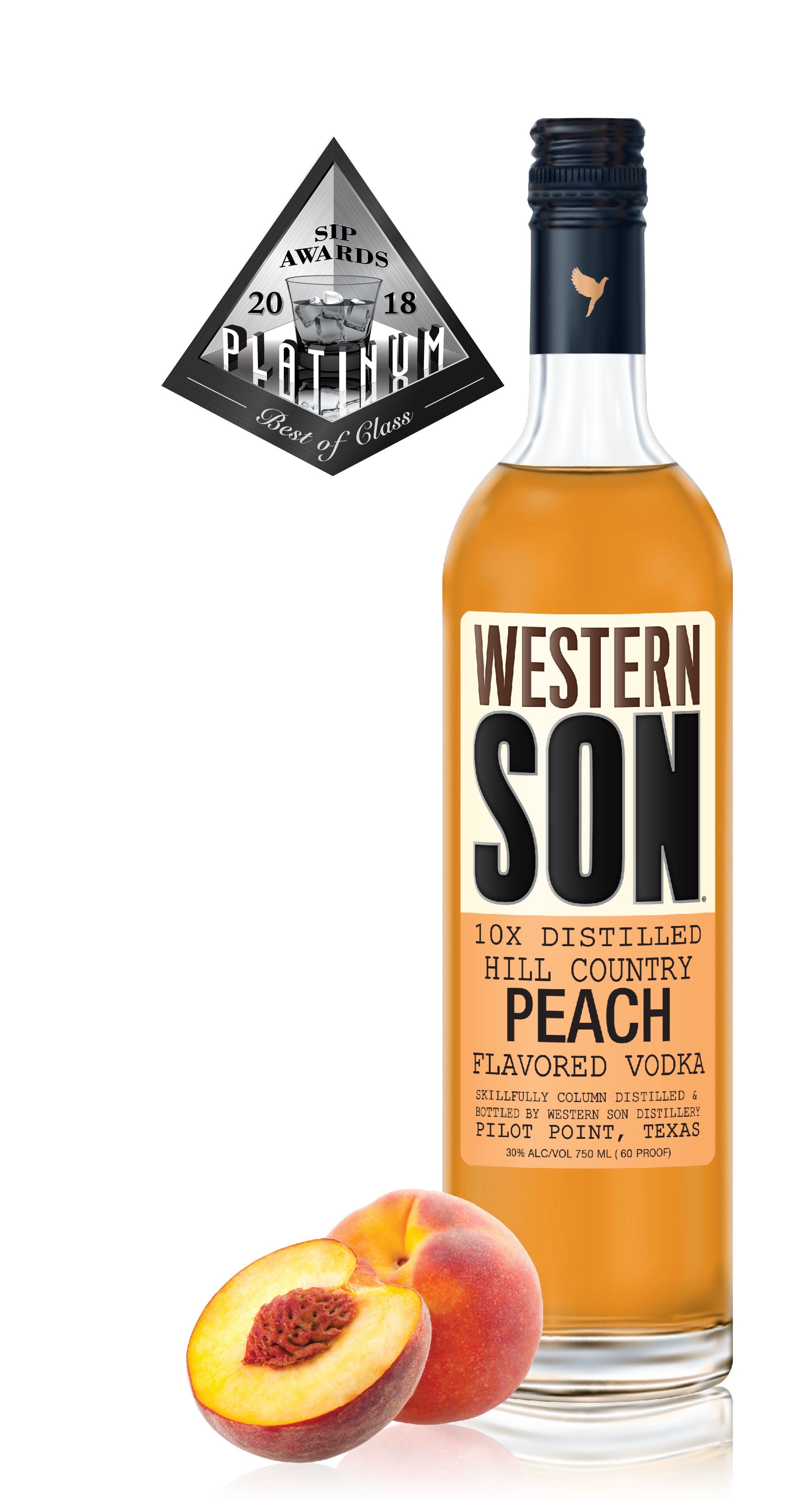 PEACH - Enjoy sweet peach maramalade and honey aromas as they tantalize the tongue like a peach sorbet with enough body and sweetness for a silky finish.Click for recipes