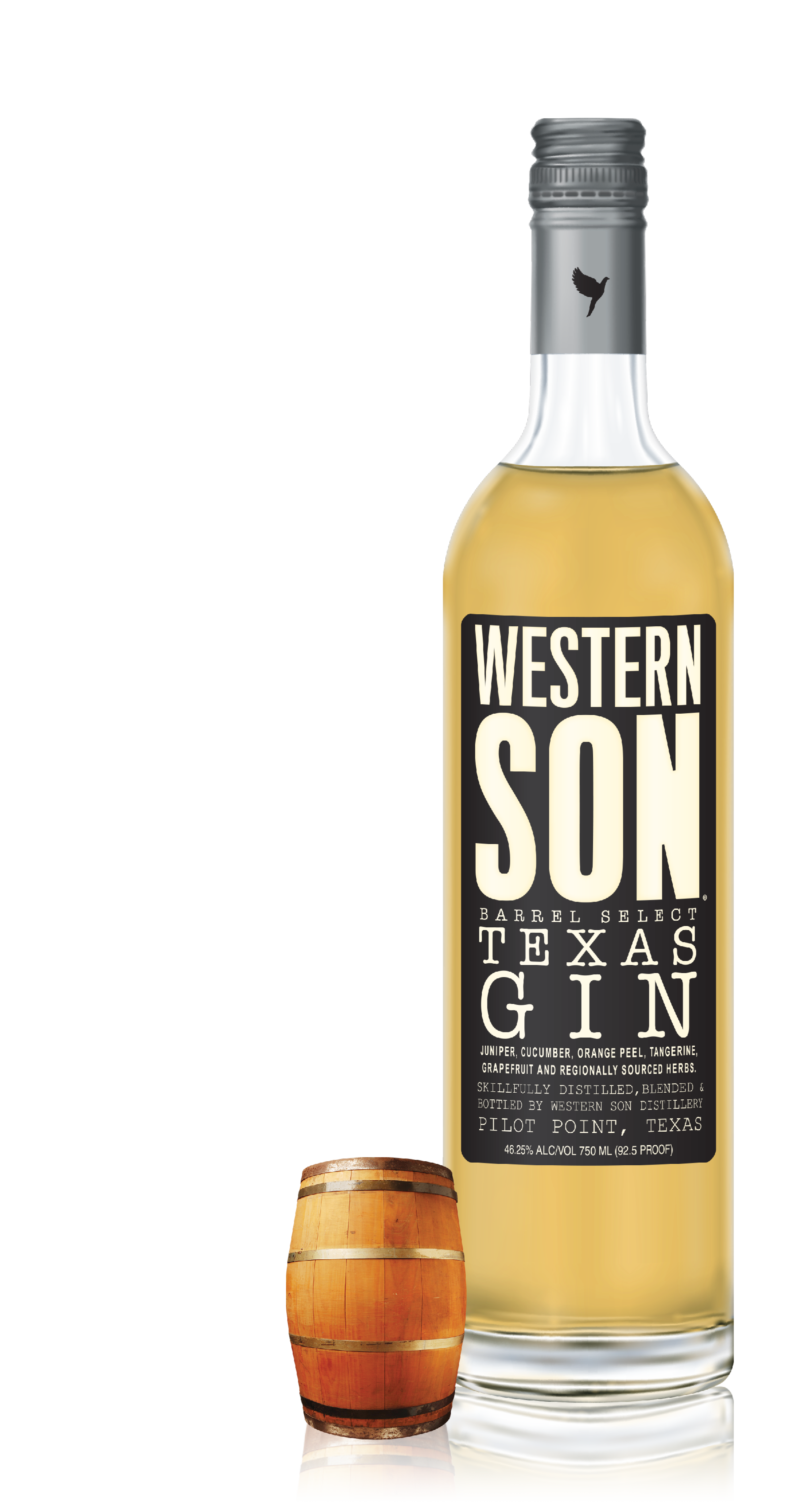 BARREL SELECT TEXAS GIN - Charred currants, dried fruit, honey and subtle juniper with a long and warm finish. Aged in Texas Bourbon Barrels for six months.Click for recipes