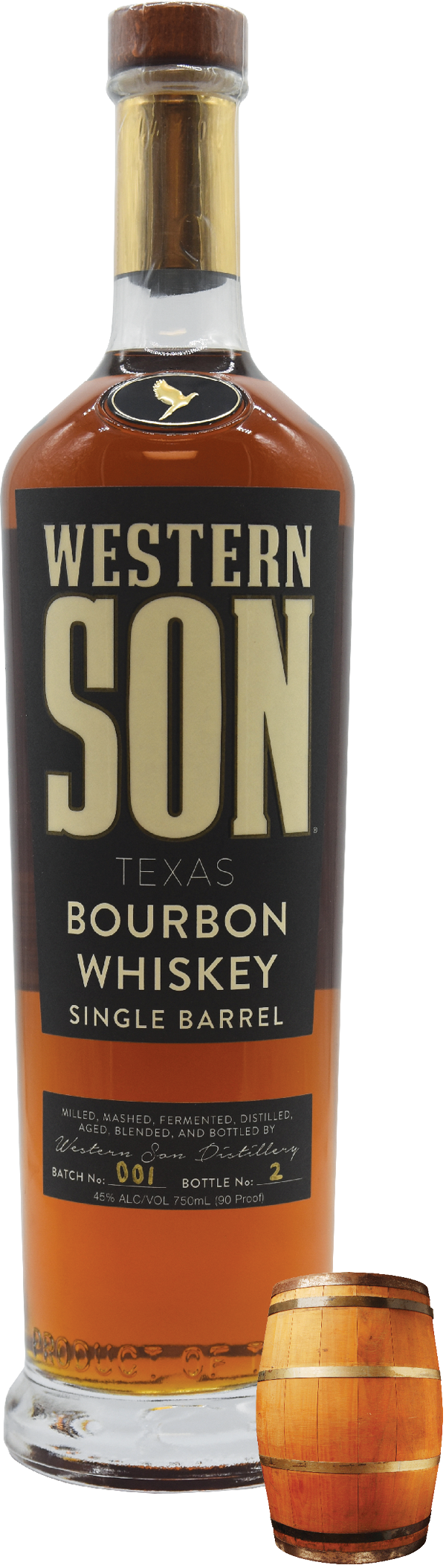 Western Son Texas Single Barrel Bourbon Whiskey