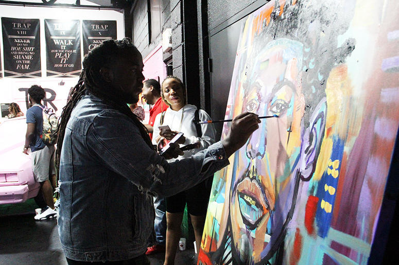 Using art to showcase how Atlanta has brought forth a passion that has transcended not only throughout genre, but elements of Trap Music are now heard around the world. -