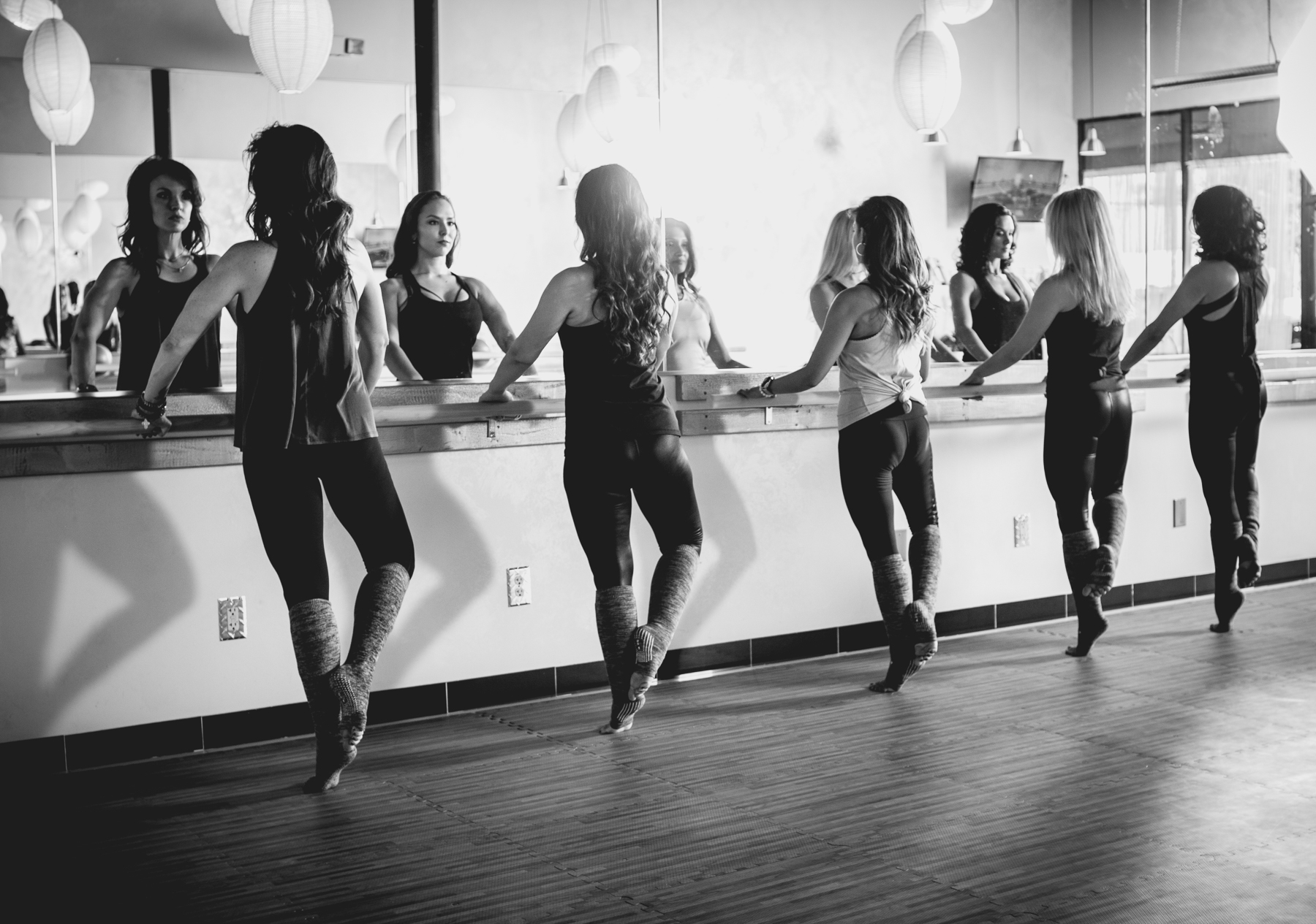 At the Barre B&W