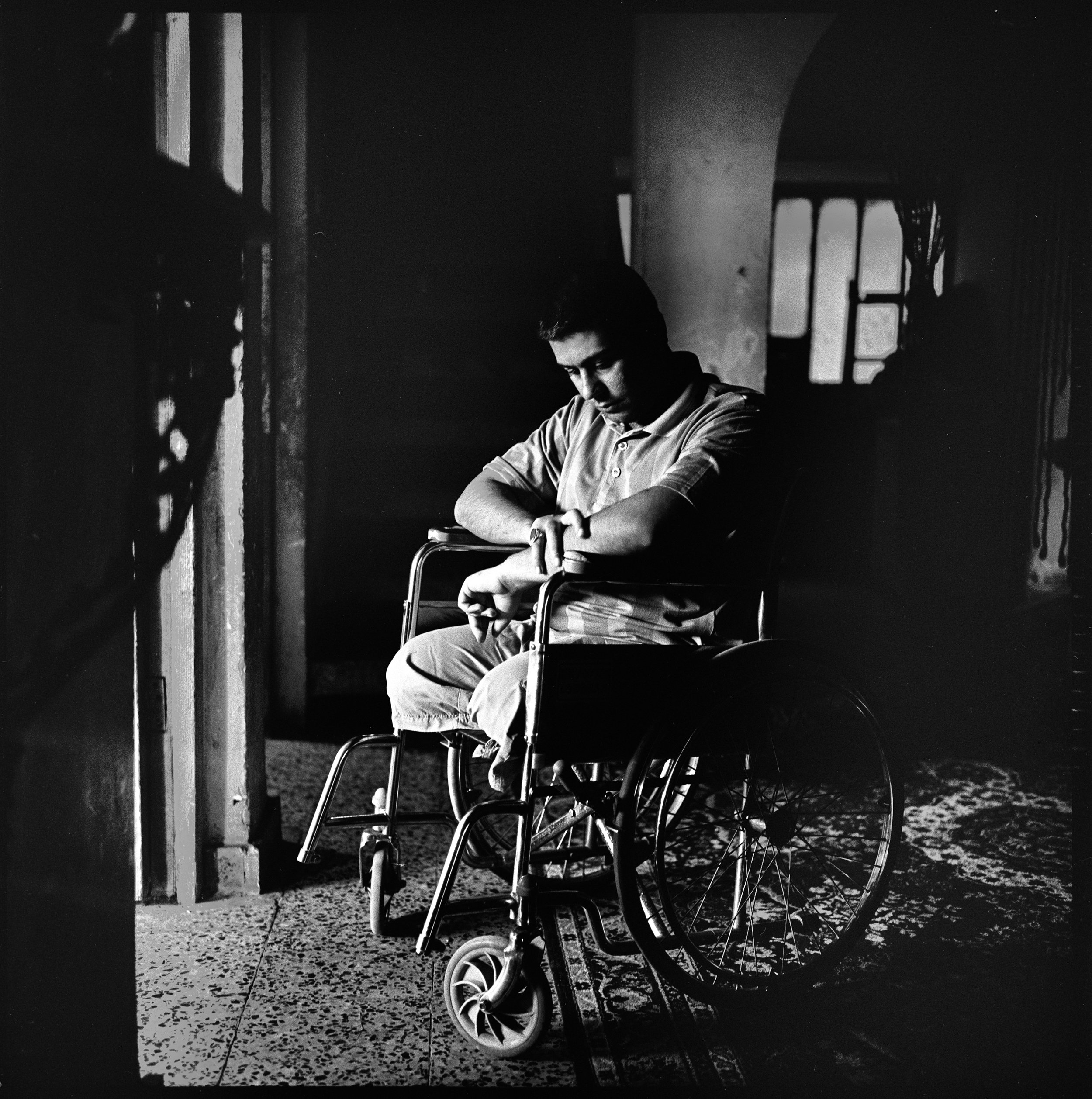WOUNDED IRAQ -