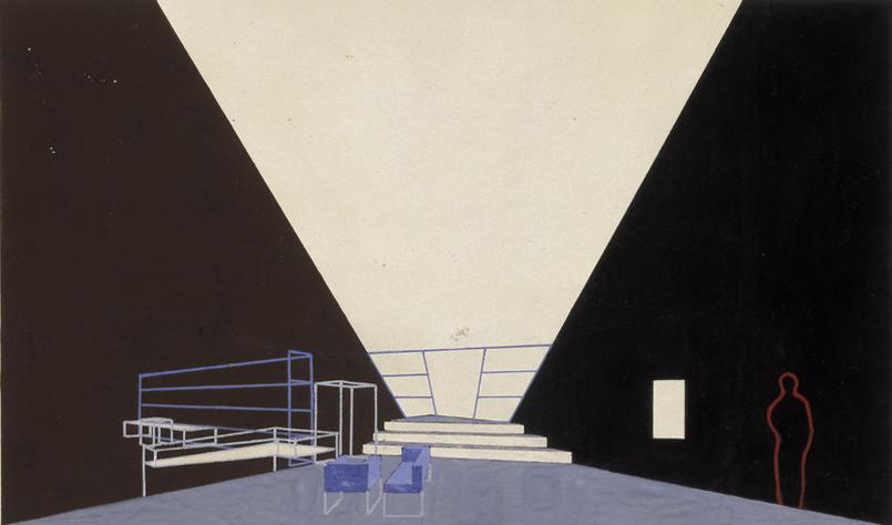Laszlo-Moholy-Nagy_Buehnenbildentwurf_1928_Bauhaus-Archiv_Foto-Markus-Hawlik_VG-Bild-Kunst