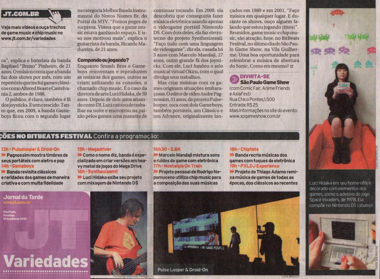 Synthesizemii no Jornal da Tarde