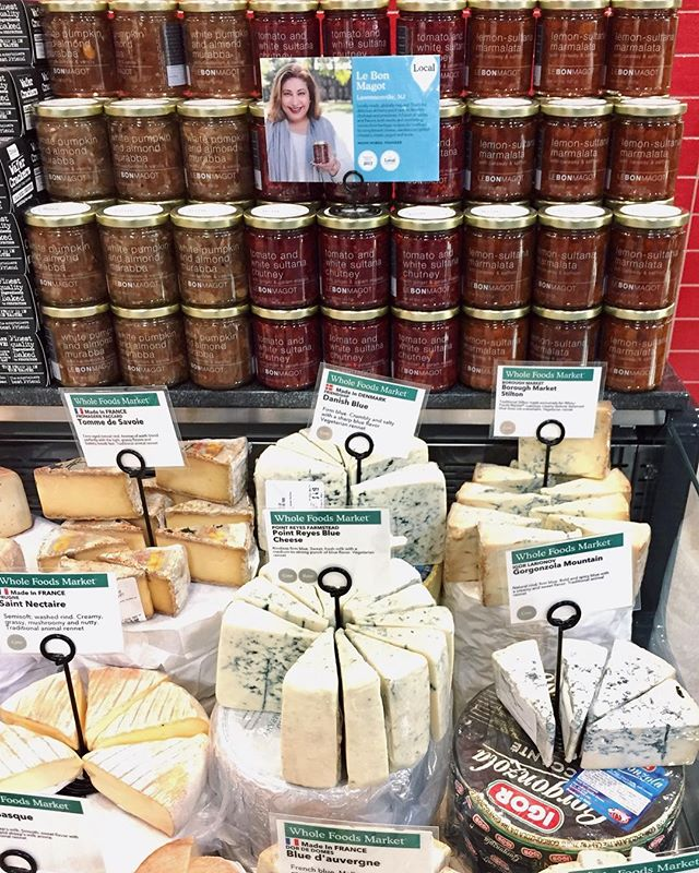 😍 IT'S OFFICIAL! 🍅 #LeBonMagot is in @wholefoods in #Metuchen, New Jersey! Try our line of five innovative and unusual jams and preserves with some #WholeFoods artisan cheeses!