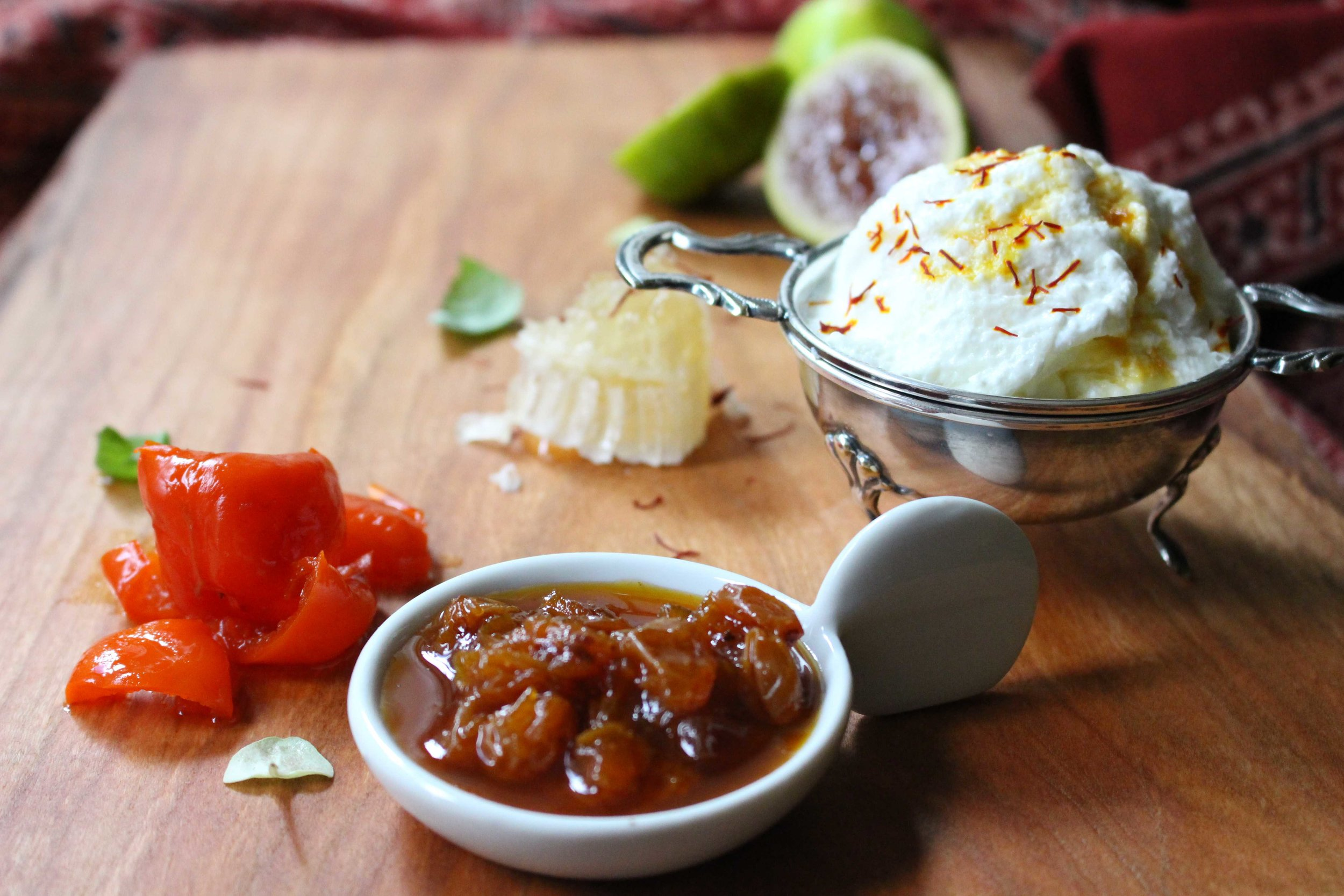 topli na paneer with figs and lemon-sultana marmalata