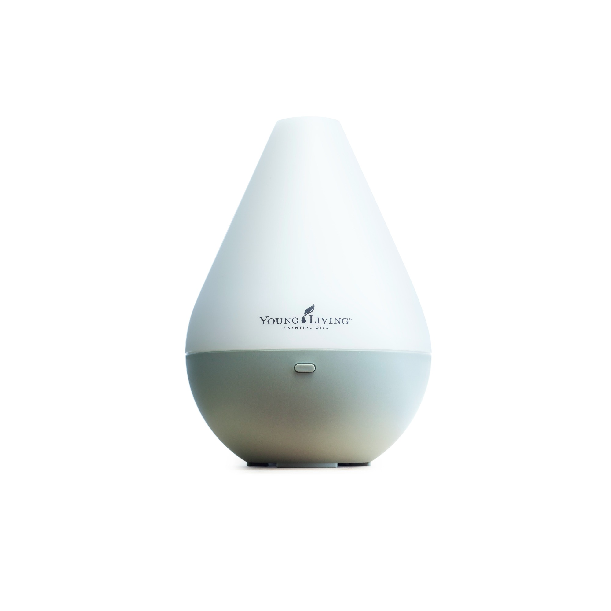 DEWDROP DIFFUSER    Inspired by the purity and elegance of a drop of morning dew, this diffuser functions as a humidifier, atomizer, and aroma diffuser. Custom designed with up to four hours of continuous-run diffusion, automatic shutoff, and ambient light control. Comes with a 5ml bottle of Tangerine and Peppermint essential oils.   Click here   to learn more about this product.