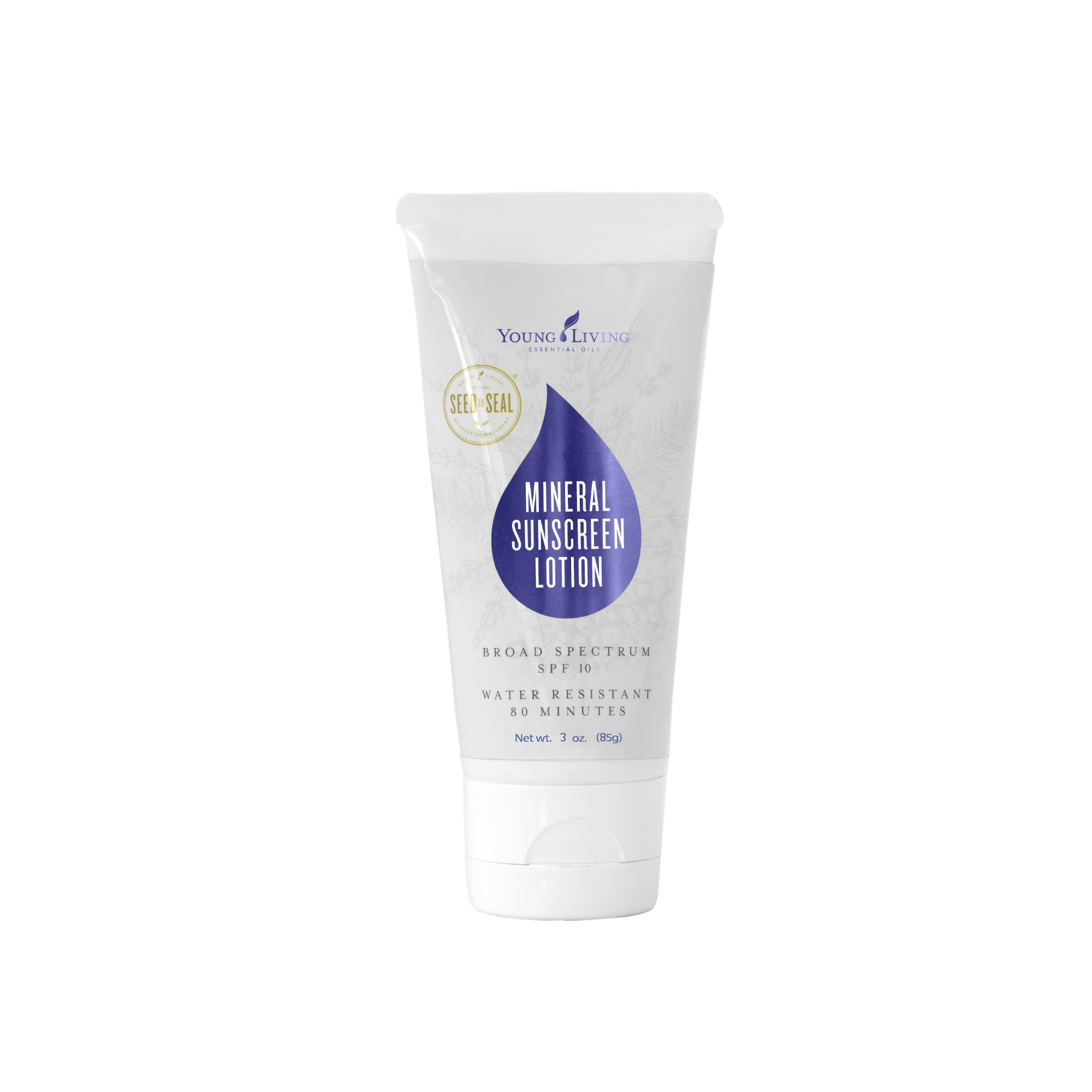 MINERAL SUNSCREEN (SPF 10)    This sunscreen provides protection against UVA and UVB rays without harsh chemical ingredients. Non-greasy, reef-safe, SPF 10 protection, with non-nano zinc oxide. Goes on smooth and stays water and sweat-resistant for 80 minutes. Contains hypoallergenic ingredients and skin-loving essential oils like Helichrysum, Carrot Seed, and Sacred Frankincense.   Click here   to learn more about this product.