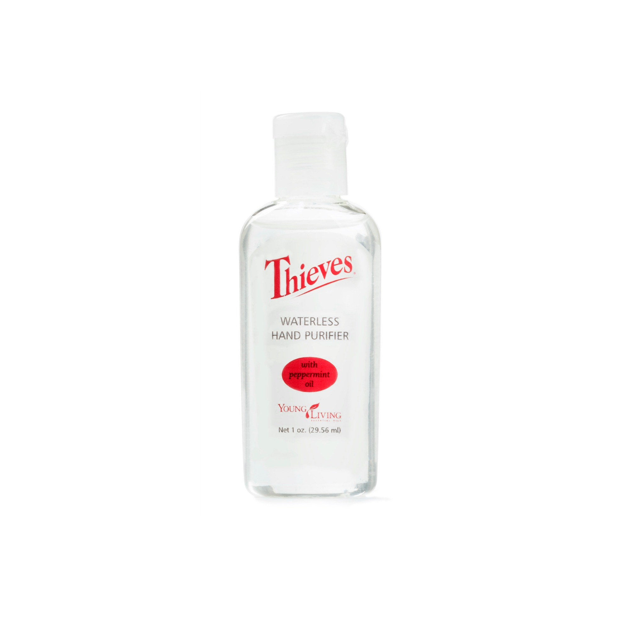 THIEVES HAND PURIFIER    This is a quick, convenient, purse-friendly fix for clean hands anywhere. Infused with Thieves and Peppermint essential oils, along with aloe, this hand purifier cleanses, purifies, and soothes skin, leaving a pleasant, spicy-sweet scent. Also comes in a larger size.   Click here   to learn more about this product.