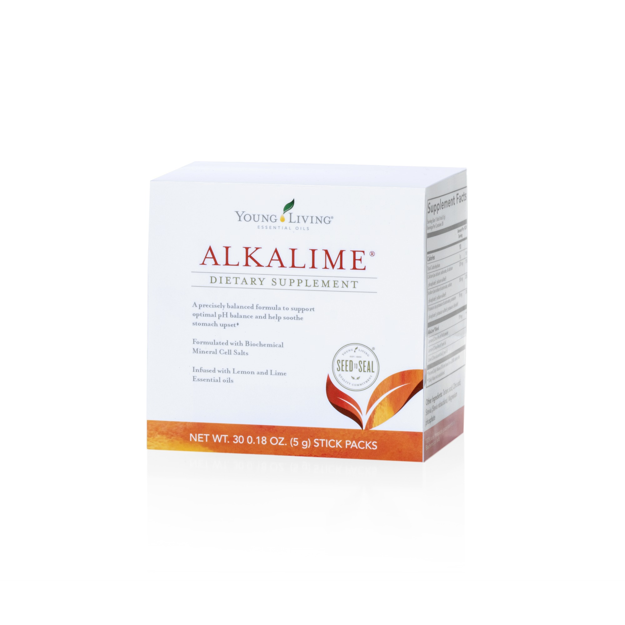 ALKALIME STICKS    AlkaLime now comes in convenient single-serve stick packs, so you can enjoy this mild, alkalinizing drink on the go. Keep a few in your purse, backpack, or at the office. The effervescing mix is formulated with Lemon and Lime essential oils, organic lemon powder, and biochemical mineral cell salts to create a crisp and soothing beverage that's gentle on stomachs and supportive for digestive and immune health. Simply empty a packet into 4–6 ounces of cool, pure water, then stir and enjoy. Contains no artificial colors, flavors, or sweeteners.   Click here   to learn more about this product.
