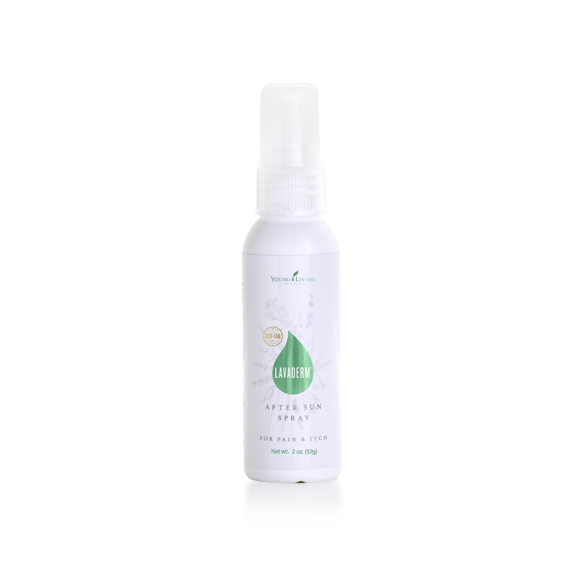 LAVADERM AFTER-SUN SPRAY    This naturally derived after-sun spray offers temporary relief from the pain and itching of minor burns, minor cuts, sunburns, scrapes, insect bites, and minor skin irritations. It soothes and cools the skin, and has moisturizing qualities from ingredients such as aloe, Lavender essential oil, and Helichrysum essential oil, which also helps prevent peeling.   Click here   to learn more about this product.