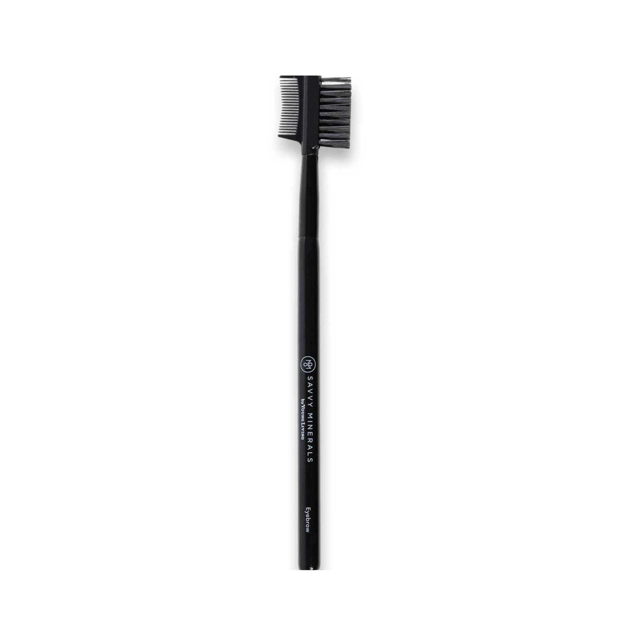 EYEBROW BRUSH    The eyebrow brush is great to keep unruly eyebrows at bay and to help separate eyelashes. Each soft makeup application brush is made from high-quality Italian synthetic fibers that are designed to hold the optimal amount of product and provide easy makeup application and a luxurious feel. Each brush is designed to work well with the texture of Savvy Minerals by Young Living powders.   Click here   to learn more about this product.