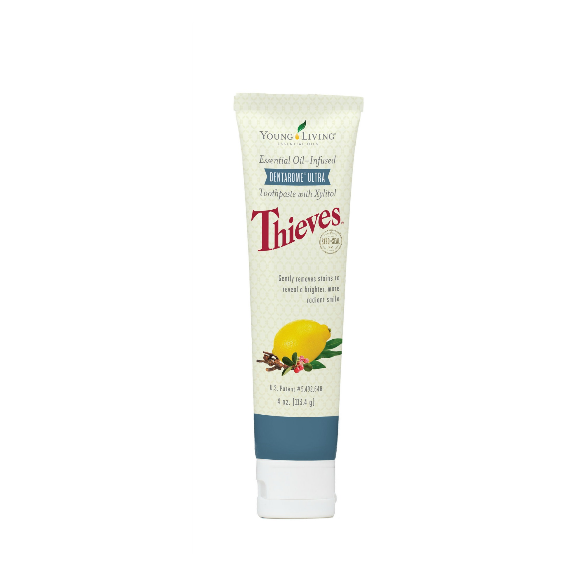 "THIEVES DENTAROME ULTRA TOOTHPASTE    Infused with our popular Thieves oil blend, Dentarome Ultra uses essential oils and naturally derived ingredients for a fresh, clean mouth. This toothpaste has more of a minty-herby taste to it. Its ""foamy"" texture to it when you brush leaves your mouth feeling extra clean once you rinse!   Click here   to learn more about this product."