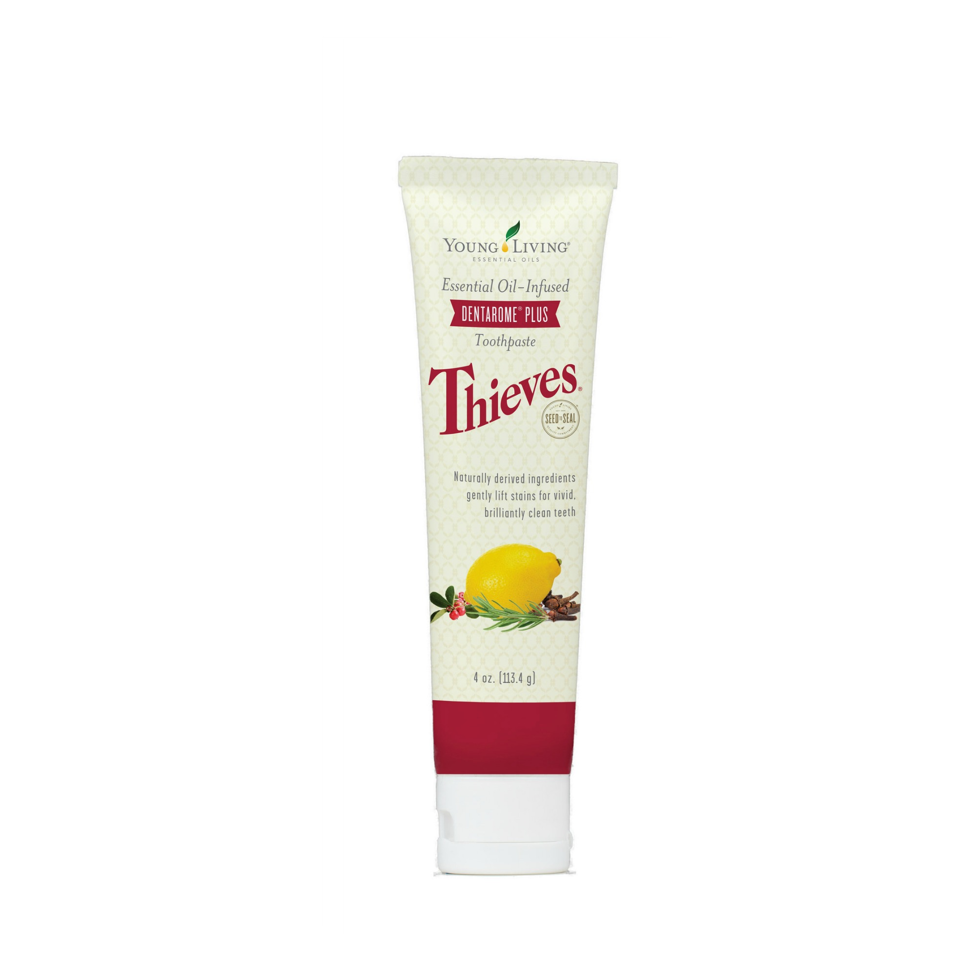 THIEVES DENTAROME PLUS TOOTHPASTE    Naturally derived ingredients such as baking soda and Thieves essential oil blend gently lift stains for brilliantly clean teeth. The minty combination of Peppermint and Wintergreen essential oils adds to the refreshing flavor.   Click here   to learn more about this product.