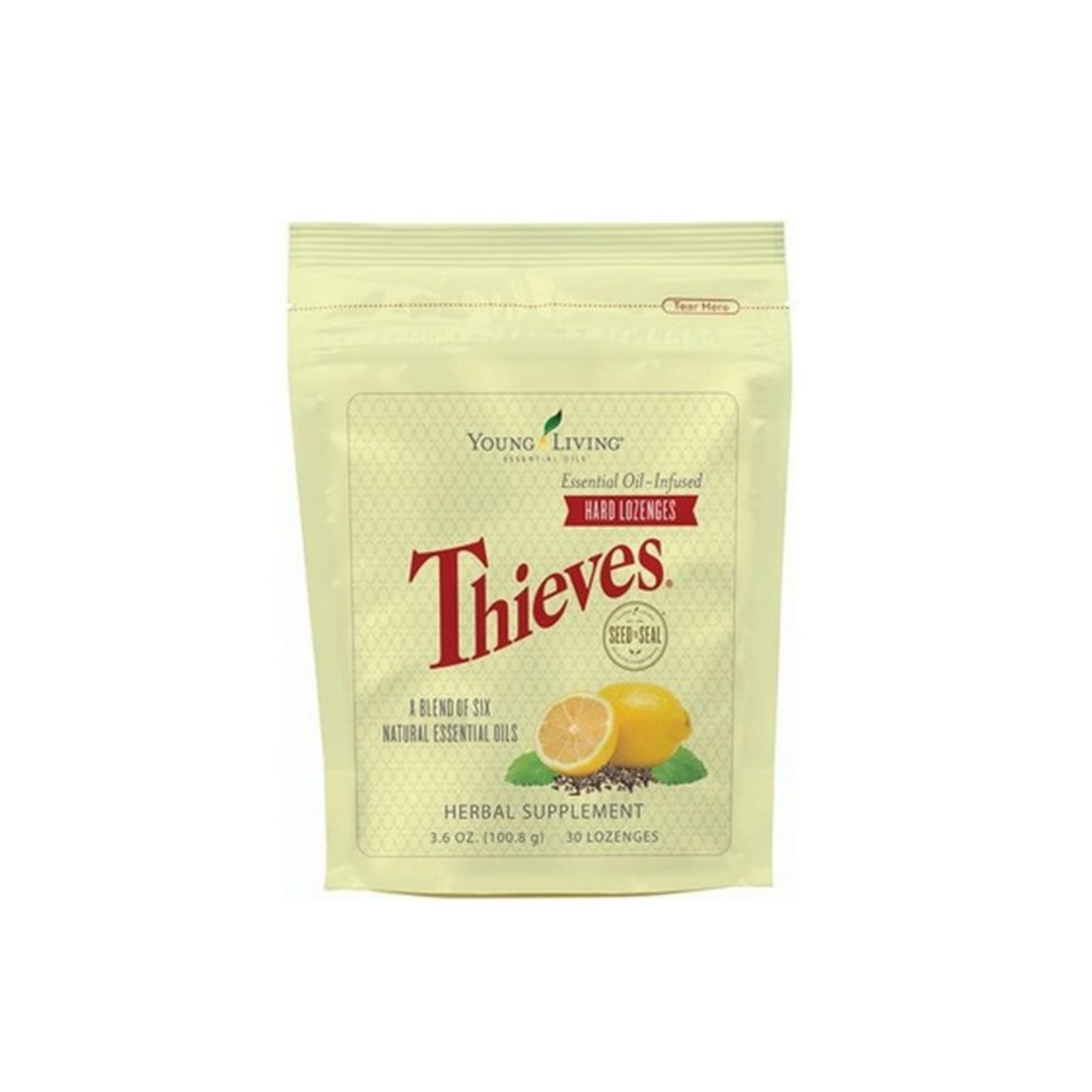 THIEVES HARD LOZENGES    Unlike many other lozenges, Thieves Hard Lozenges use pure essential oils and natural ingredients instead of sugar or artificial flavoring for a great, refreshing taste. These lozenges get an extra flavor boost from Peppermint and Lemon essential oils. Whether you use them for targeted support or overall wellness, Thieves Hard Lozenges are great for immune support.   Click here   to learn more about this product.