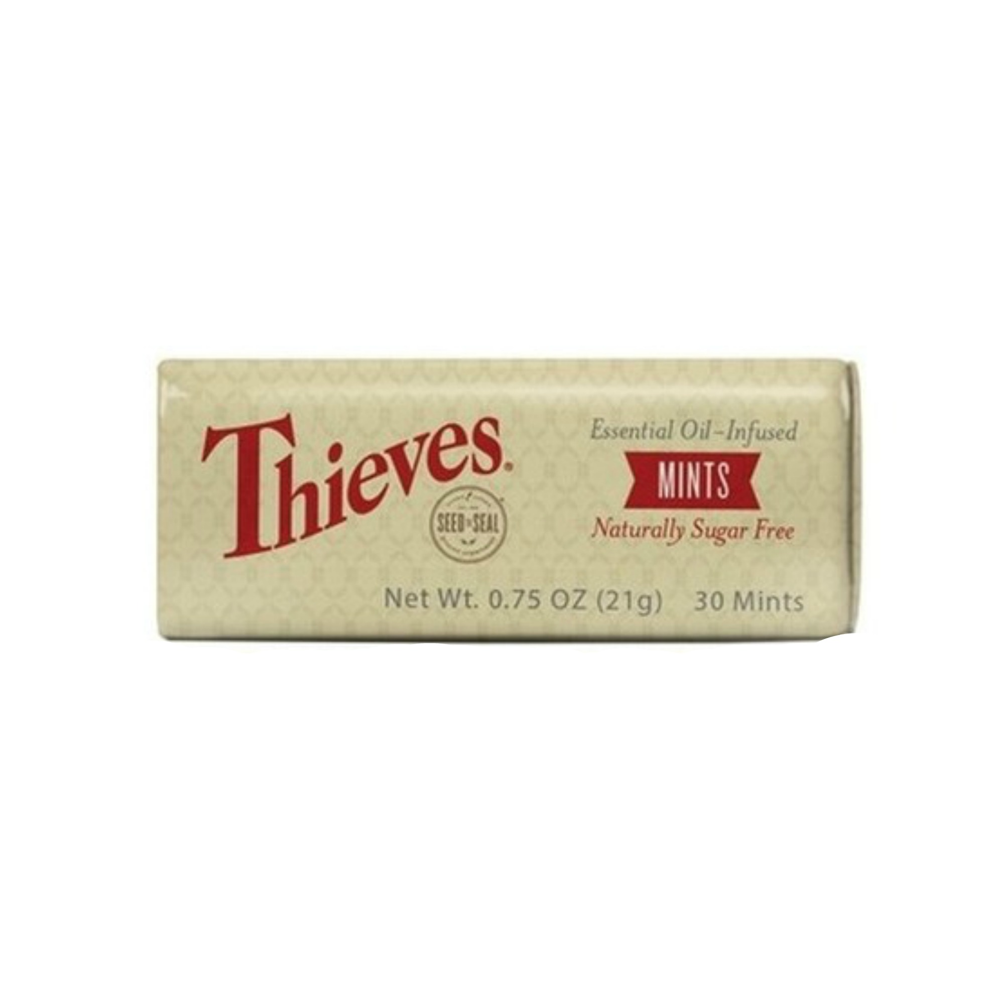 THIEVES MINTS    Made from naturally derived ingredients and free of artificial sweeteners, dyes, and preservatives, Thieves Mints are a choice that you can feel good about. Thieves Mints contain Young Living's popular Peppermint essential oil and Thieves essential oil blend to create the perfect combination of minty coolness with a hint of warm, sugar-free sweetness.   Click here   to learn more about this product.