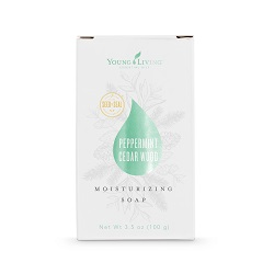 PEPPERMINT CEDARWOOD BAR SOAP    This bar soap is great for early mornings or for when you need an extra boost of energy. Offering the power of pure essential oils, Young Living's Peppermint-Cedarwood Moisturizing Soap cleanses and invigorates the skin.   Click here   to learn more about this product.