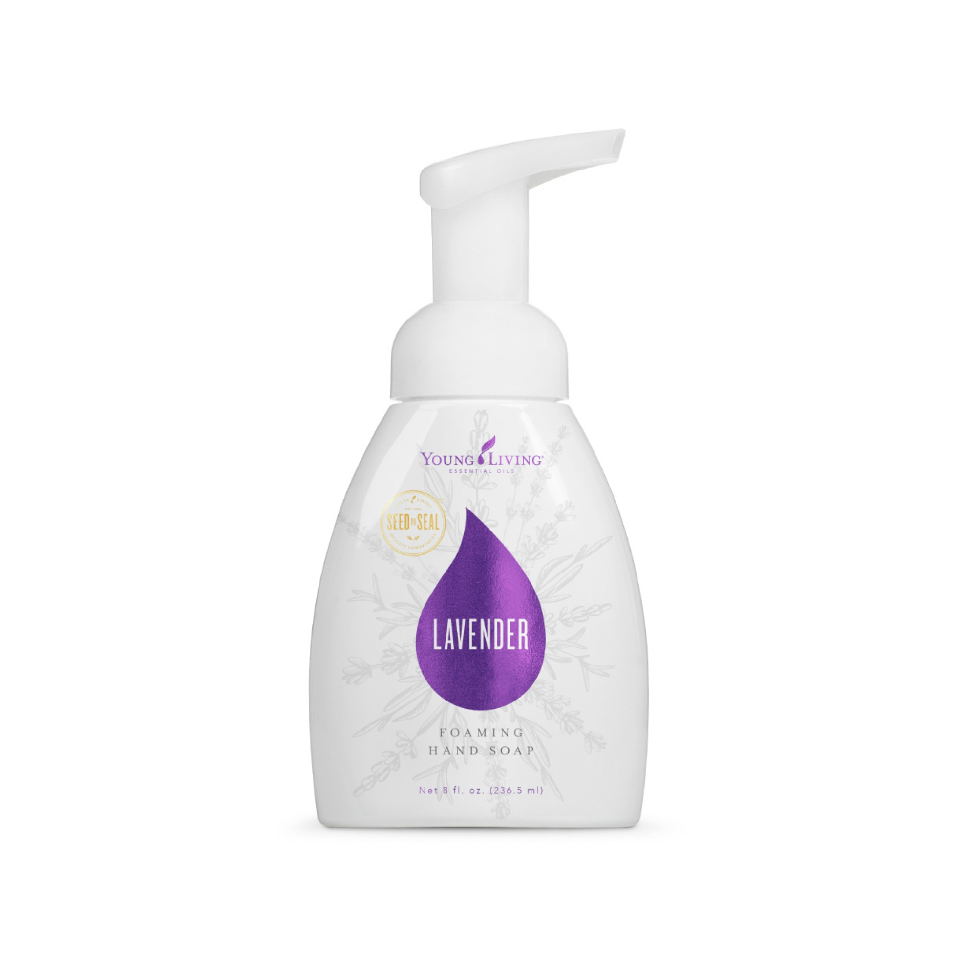 LAVENDER FOAMING HAND SOAP    Lavender Foaming Hand Soap cleanses and conditions your hands without leaving dryness or irritation. Infused with Lavender essential oil, vitamin E, and aloe, this soap is effective and gentle enough for the most sensitive skin. It's also great as a healthy bubble bath alternative when you add 3 or more capfuls to your bath water.   Click here   to learn more about this product.